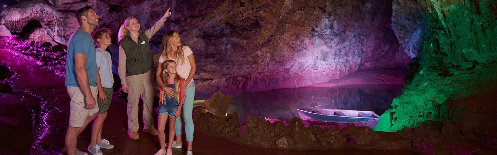 Explore Caverns, Rivers, and Waterfalls